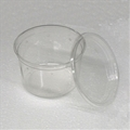 4.5 inch 16 oz Clear Punched Deli Cups with Lids