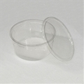 6.75 inch 48 oz Clear Punched Deli Cups with Lids