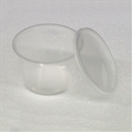 4.5 inch 16 oz Semi-Clear Punched Deli Cups with Lids