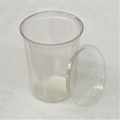 4.5 inch 32 oz Clear Punched Deli Cups with Lids