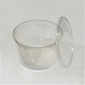 6.75 inch 80 oz Clear Punched Deli Cups with Lids