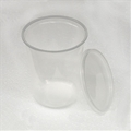 4.5 inch 32 oz Semi-Clear Un-Punched Deli Cups with Lids